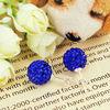 Fashion Jewelry Shamballa Earring Crystal Bead Jewelry FE001
