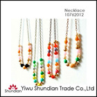 2013 hot sale colorful beaded strand necklace