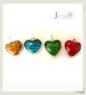 heart shape striped glass pendant