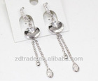Newest Long Silver Glittering Elegant Jewelry Korea High-quality Manual arring Big Fashion ZDER-175 2012 2013 for girls