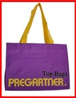 fashion purple nylon foldable shopping bag