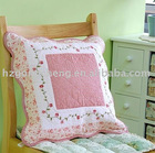 100% cotton quilted and embroidery cushion