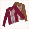 New Design 100% Cotton Long Sleeve Autum Fancy Girls Coat