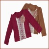 New Design 100% Cotton Long Sleeve Autum Fancy Girls Coat