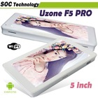 "New arrival cheapest Android Tablet pc 5"" portable Uzone F5 Pro Allwinner A10 1.5GHz 3G GPS WIFI 3D Games"