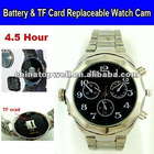 Battery & TF Card Replaceable 640*480 HD Digital Wrist Watch Cam,4.5 Hour Super Long Continuous Recording