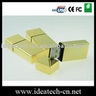 golden metal usb flash drive, retangular metal usb flash drive, golden usb flash disk 64gb