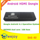 2012 New!!!SAS-02 android tv stick rk3066 dual core android 4.1