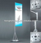 exhibition flag banner with flag poles