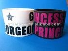 Wide Fat Silicone Bracelet Custom Silkscreen Logo