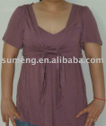 88/12 modal/viscose Knitted women's wear of short sleeves