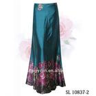 Hot Long Pinted Satin Skirt SL10837-2