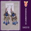 Blue stone dangle earrings, trendy costume earring supply
