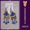 Blue stone dangle earrings, trendy costume earring supply