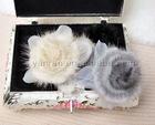 YR-384 hand made genuine mink fur snood