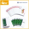 Promotional playing cards with customer logo