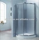 (A-864) big copper wheel aluminium frame shower enclosure