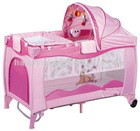2012 hot pink unique safety baby bed com with AS/EN71 certification