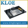 Rectangular,304 stainless steel,single bowl,kitchen sink with faucet