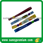 Custom Print Woven polyester fabric wrist band for event festival