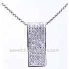 cubic zirconia jewelry 925 silver pendant 925 sterling silver semi-precious pendant