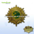 2013 Zinc alloy metal badge with epoxy covered