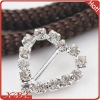 Heart Rhinestone Gift Ribbon Buckle Slider