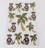 custom cartoon adhesive paper sticker
