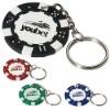 11.5g Poker Chip Keychain, Keyring dia 3 cm