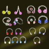 Fashion Acrylic UV Logo Tongue Body Piercing