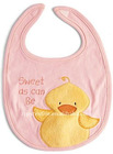 100%cotton Sweety pink baby bibs with high quality
