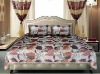 Jacquard big leaves design chenille bedspreads SC812