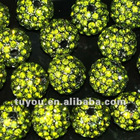 Wholesale shamballa crystal beads,crystal pave clay beads at best price!