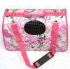fashionable leather pet travel bag