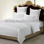 white /solid color 300TC 4pieces available bed sheet set
