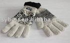 wool glove with fleece lining