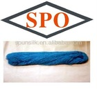 Spun silk yarn with silk/cashmere(dyed silk yarn)
