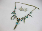 rhinestone earring and necklace set