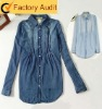 2012 latest fashion woman shirt with accordion pleats