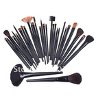 Wholesale 32 pcs Professional Makeup Brush Sets Cosmetic Brushes kit + Black Leather Case