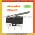 Mini micro switch KW10-3Z-3 micro switch 12v
