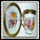 gold printing beautiful ceramic coffee cup