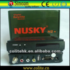Nusky N2+ Satellite Receiver , with Nagra 2.0 Patch, Support Dongle(ibox dongle/azbox/pc 30/pc 40, etc)