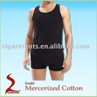 High quality 100% cotton Mens Tank Top Black