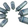 CNG steel lined glass fiber hoop wrapped cylinders