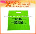 Green die cut HDPE bag(XS-018)