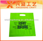 Green die cut HDPE bag(XS-018)