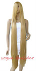 51'' Long Rapunzel Tangled Light Golden Blonde Straight Cosplay Hair Wig