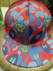 Colorful morden print snapback cap