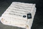pure micro fleece & Fuax Fur (mink) reversible Blanket